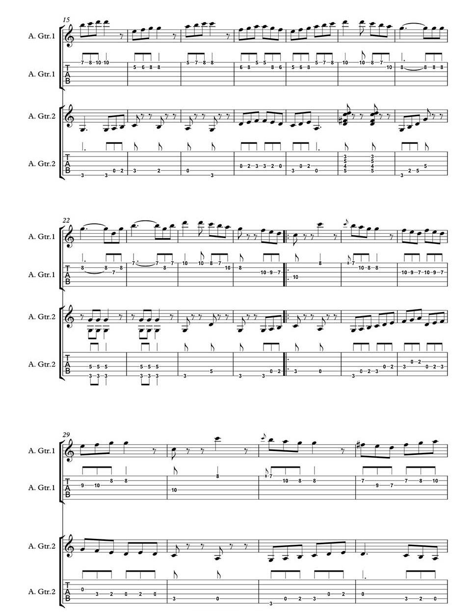 Trumpton Fireman By Freddie Phillips Arranged For Guitar Duet By